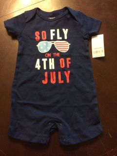 NWT 4th of July onesie