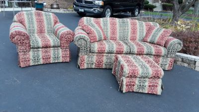 Sofa and Matching Chair w/Ottoman