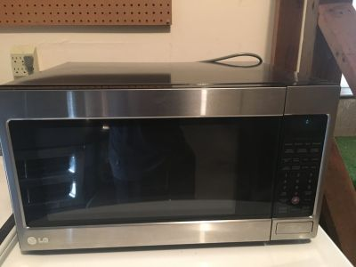 Extra Large Stainless Steel LG Microwave Oven