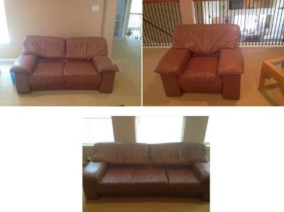 $600, Genuine leather 3 piece sofa set