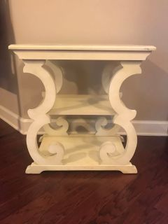 Off white end table