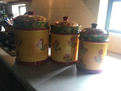 Really cute canister set. $20