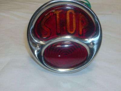 Purchase STOP CLASSIC STAINLESS TAIL LIGHT ASSEMBLY MOTORCYCLE CUSTOM BOBBERS glass lens motorcycle in Fullerton, California, US, for US $29.95