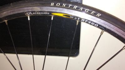Used Alexrim AT-450 (bontrager tire) 622 x 14""