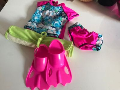 18 Doll Swim Beach Set Outfit for American Girl / My Life Dolls