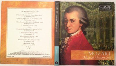 Mozart Musical Masterpieces CD and booklet