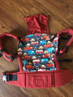 """Adorable """"Look for Helpers"""" TULA baby carrier"""