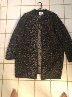 Old navy xl long leopard jacket