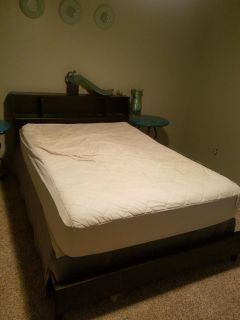 Full size bed frame w/o mattresses