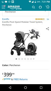 New In Box!! Evenflo Pivot Double Stroller System