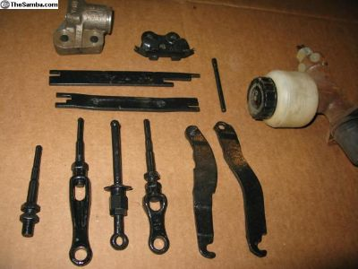 U-joint, MC pushrod , trans mount, bearing cover