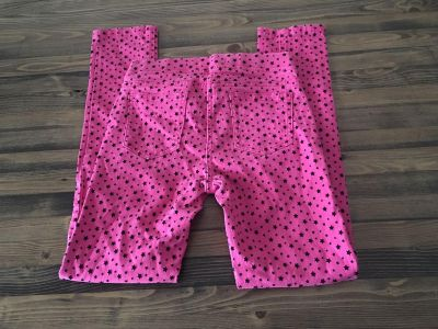 George Girls size 10 stretchy star printed pink pants
