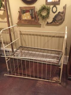 Antique Hospital Baby Bed