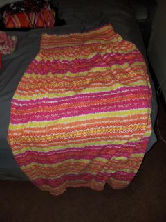Colorful strapless dress size 4x