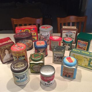 Collection of 16 Decorative Tins