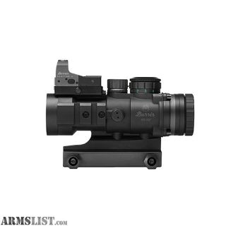 For Sale: Burris AR Prism Sight Ballistic CQ Reticle with Free FastFire III Reflex Red Dot Sight AR-332, 3x36mm, 3 MOA with Picatinny Mount, Matte Black