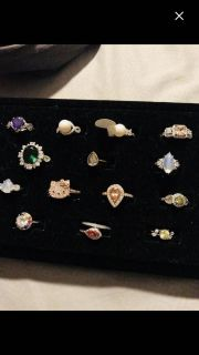 Fragrant jewels costume rings size 6