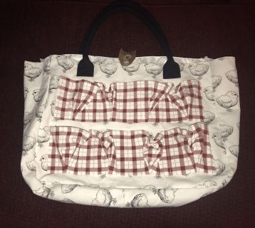 Egg collecting tote bag