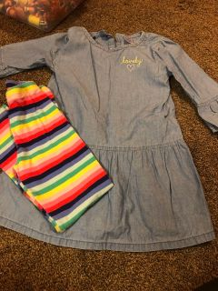 Carters 6/6x outfit -leggings and 3/4 sleeve shirt