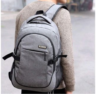 New Grey Laptop Backpack with Intelligent Charging