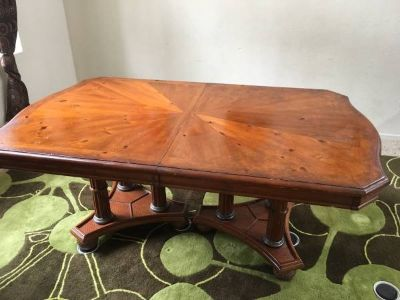 SOLID WOOD TABLE with extension / leaf