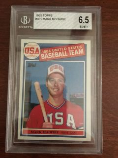 1985 Topps Mark McGwire RC