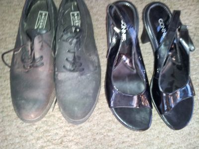 9 1/2 womens heals and flat shoes hardly worn