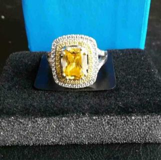Yellow sapphire ring size 6
