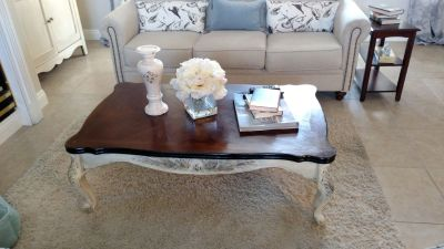 French Country Coffee Table and Entry Table