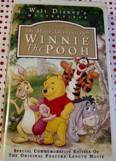 """VHS Disney Movie """"The Many Adventures Of Winnie The Pooh"""""""