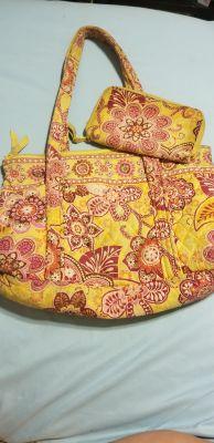 Matching vera Bradley purse and wallet
