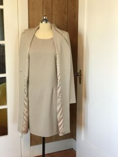 Taupe Marisa Collection Dress and Jacket Set Size 10