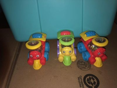 Fisher price poppity trains toddler size $3 ea