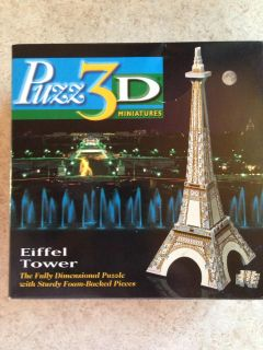 Like New - 3D Puzzle of Eiffel Tower - 43 Pieces