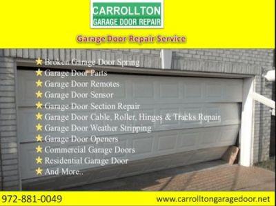BBB A+ Rated Garage Door Repair Starting $25.95 | Carrollton| Dallas, 75007 TX