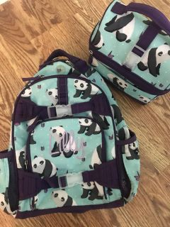 Pottery Barn backpack and lunchbox