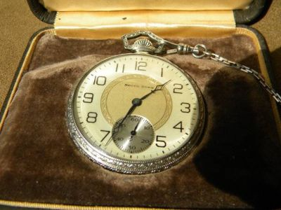 South Bend Antique Pocket Watch in box - runs like new