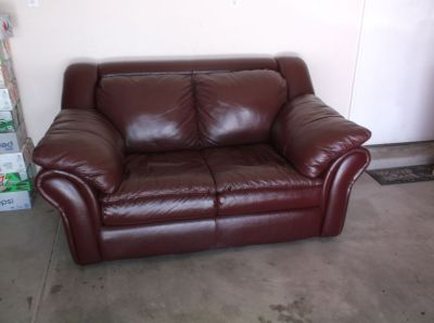 Imitation Leather Loveseat