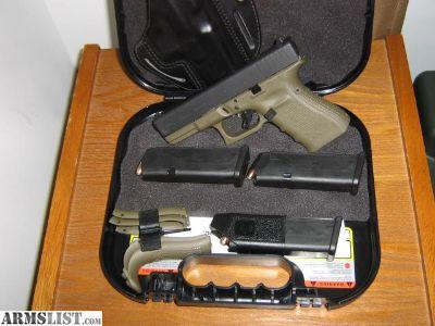 For Sale: glock 19 gen 4 od green