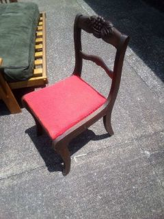 Antique red chair