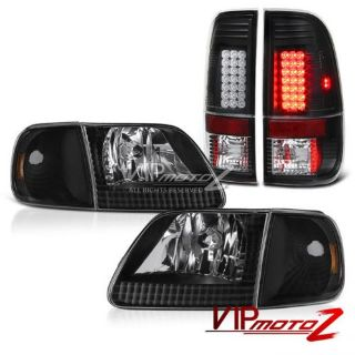 """Sell 1997-2003 Ford F150 Black Parking Headlamps """"Super Bright"""" Brake LED Tail Lights motorcycle in Walnut, California, United States, for US $203.87"""