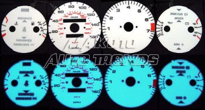 Sell Dash Indiglo Face Glow Color Gauges Set New For 1985-1991 Porsche 944 Non Turbo motorcycle in Monterey Park, California, United States, for US $24.99