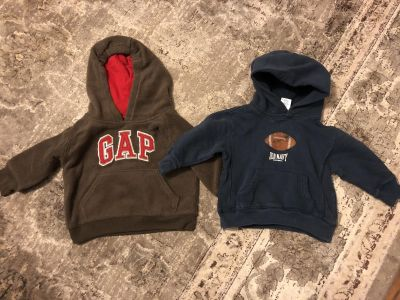 Two hooded jackets size 12-18 months.