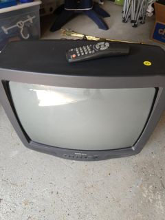 """Samsung 19"""" tube TV with remote"""