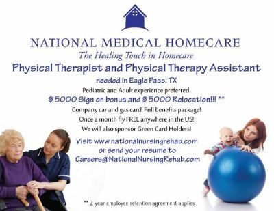 Physical Therapist Needed ASAP (Eagle Pass)