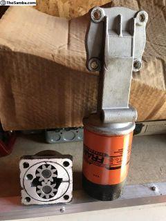 Oil pump filter adapter
