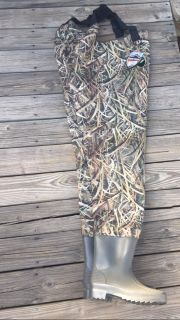 brand new waders with boots size 10