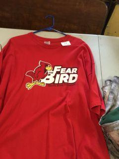 Illinois state university fear the bird short sleeve T-shirt size 2X