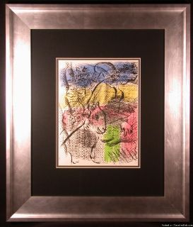 XXe Siecle 1970 Orig Color Lithograph by Marc Chagall