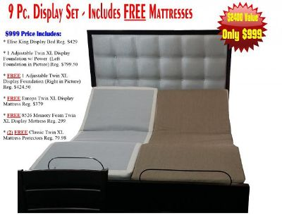$999, King bed with adjustable bases and mattresses